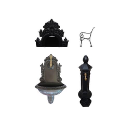 Umývadla, fontány, lavičky